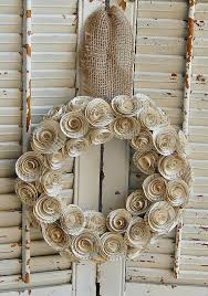Christmas Decorating Wreath Old Book Pages by Vintage Book Paper Wreath Romantic Paper Rose By Roseflower48