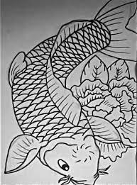 black outline koi fish design tattooshunter com