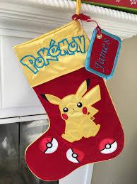 pokemon pikachu christmas stocking