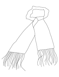 coloring pages scarf coloring pages gloves winter clothes page