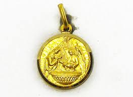 Baptism Engraving 18ct Yellow Gold Italian Round Medallion Baptism Engraving On