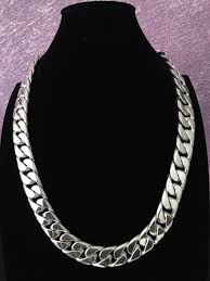 necklace silver mens images Mens 925 sterling silver thick and heavy weight barbado chain jpg