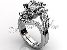 wedding rings flower images Platinum diamond unusual unique flower engagement ring bridal jpg