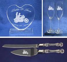 biker wedding motorcycle wedding cake topper glasses and