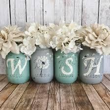 dandelion wish mason jar set rustic home decor farmhouse decor