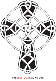black and white celtic cross tattoo sketch design tattoomagz