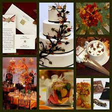 autumn fall wedding theme decorating of party