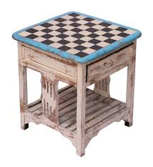 wholesale handmade 18 u201d off white wooden square coffee side table