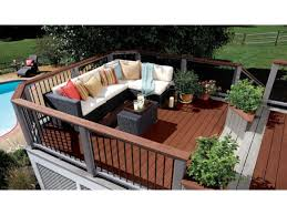 luxury exterior wood decking decoration and kitchen ideas with