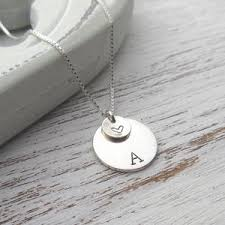 initials necklace silver silver initial necklaces