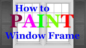 6 painting 101 how to paint a window frame gloss youtube