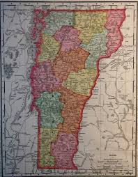 Map Of Vt Map Of Vermont 1900
