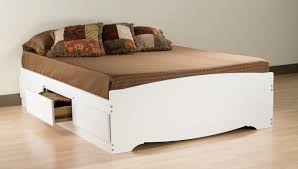 Monterey Bedroom Furniture by Prepac Monterey White Queen Bookcase Platform Storage Bed By Oj