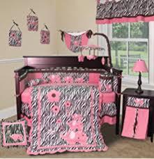 Zebra Print Baby Bedding Crib Sets Pink Black And White Funky Zebra Animal Print Baby