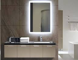 Lighted Bathroom Wall Mirrors Awesome Lighted Wall Makeup Mirror And Awesome Illuminated