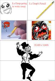 Le Derp Meme - ragegenerator rage comic le derp writing essay