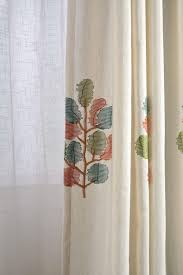 Premium Curtains Pastoral Leaves Curtains For Living Room Window Curtain