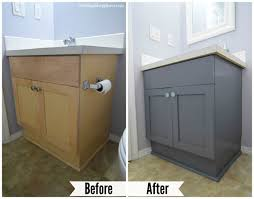 How To Paint Bathroom Cabinets Ideas Painting Bathroom Vanity Before And After House Furniture Ideas