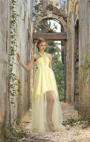 long yellow prom dress