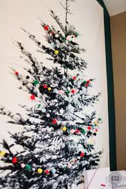 fabric christmas tree pom pom garland tree wall and wall hangings