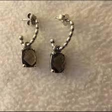 smoky quartz earrings 32 pandora jewelry new pandora autumn smoky quartz