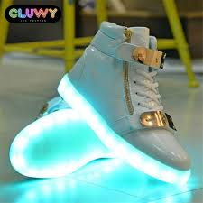 light up shoes gold high top flashing led shoes white and gold cool mania