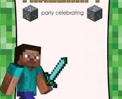 free printable birthday invitations minecraft free printable minecraft birthday invitations free printable