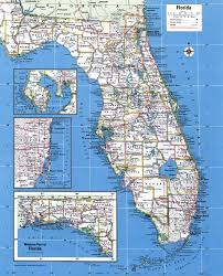 South Florida Map With Cities by Large Detailed Administrative Map Of Florida State With Major