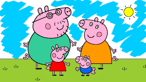 learn the colors with peppa pig coloring pages peppa pig coloring