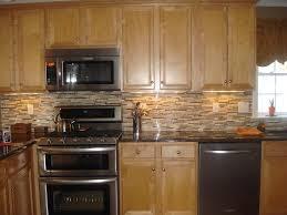 kitchen backsplash with oak cabinets and black appliances fanti blog