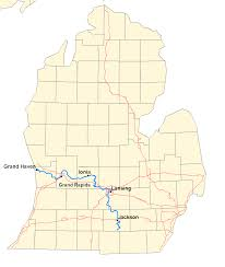 Michigan Map Outline by Grand River Michigan Wikipedia