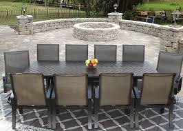 Sling Patio Dining Set Barbados Sling Outdoor Patio 11pc Dining Set For 10 Person With