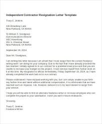 contractor resignation letter template 4 free word pdf format