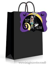 nightmare before wedding favor tags di 5051ft2