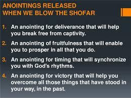 anointing shofar shofar annointing