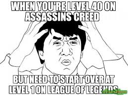 Jackie Chan Memes - when you re level 40 on assassins creed but need to start over at