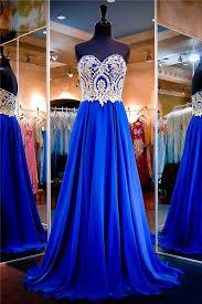 beautiful dress beautiful a line strapless royal blue chiffon gold lace prom