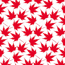 maple tree symbolism red maple leaves seamless pattern canada japanese symbolism