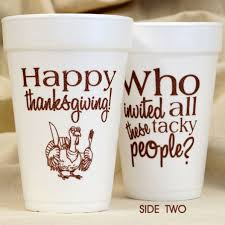 thanksgiving cups happy thanksgiving tacky foam cups paperstyle