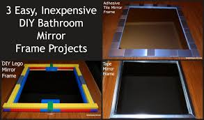 How To Make A Bathroom Mirror Frame Three Diy Bathroom Mirror Frames Family Journal