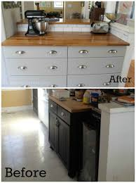 how to hack in stock cupboards to make a custom kitchen on a