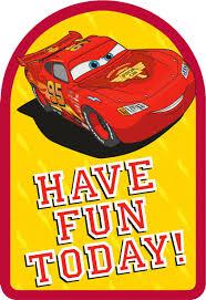 disney pixar cars lightning mcqueen lasting fun birthday card