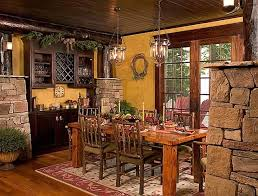 cottage and lodge style craftsman dining room minneapolis