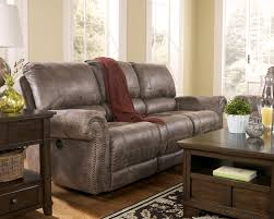 Power Leather Reclining Sofa by Faux Leather Reclining Power Sofa With Rolled Arms U0026 Nail Head