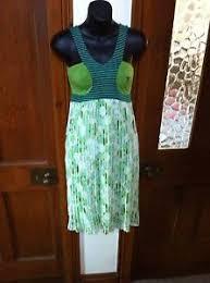 amarillo limon spanish designer dress size small 10 green and
