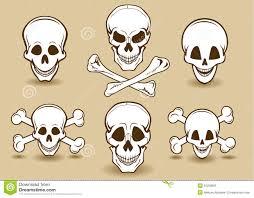 smiling skull and cross bones stock image image of element