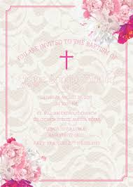 spanish wording for quinceanera invitations pretty pink lace baptism invitation