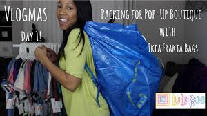lularoe packing for pop up with ikea bags frakta bag youtube