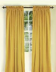 Gold Color Curtains Solid Gold Colored Window Curtain Available In Many Lengths