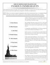 ellis island american history worksheets and history